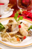 Herring fillets for christmas Royalty Free Stock Photography