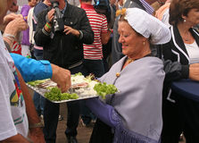 Herring at Flagday Scheveningen Stock Photo