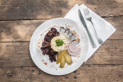 Herring with garnish Stock Image