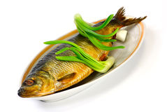 Herring and green onion Royalty Free Stock Image