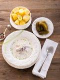 Herring with potato and cream. A fresh herring with potato and cream Royalty Free Stock Image