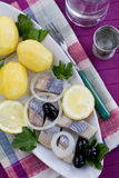 Herring with potatoes Royalty Free Stock Images