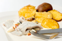 Herring with Potatoes Royalty Free Stock Photography