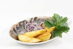 Herring with potatoes stock image