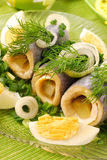 Herring rolls Stock Images