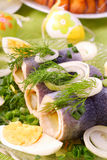 Herring rolls  for easter Stock Photos