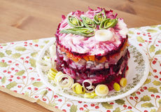 Herring salad #2 Stock Photos