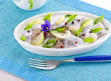 Herring salad Stock Photo