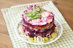 Herring salad #3 stock image