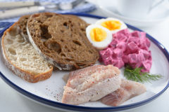 Herring with salad Stock Photo