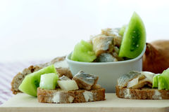 Herring salad in a bowl Stock Image