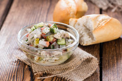 Herring Salad (with bread) Royalty Free Stock Photos