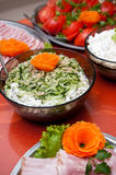 Herring salad buffet Stock Image