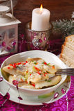 Herring salad for christmas Royalty Free Stock Image