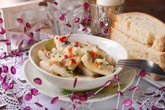 Herring salad for christmas Stock Photos
