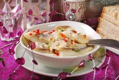 Herring salad for christmas Stock Photography