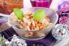 Herring salad for christmas Royalty Free Stock Photos