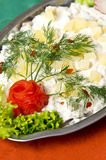 Herring salad dish Stock Photos
