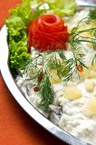 Herring salad dish Royalty Free Stock Images