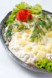 Herring salad dish Royalty Free Stock Image