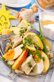 Herring salad for easter royalty free stock photos