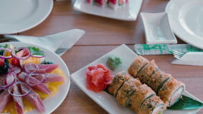 Herring Salad with eggs. Dish.  stock footage