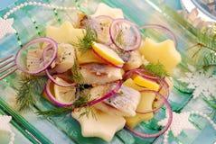 Herring salad with potato and apple Stock Photos