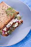Herring salad sandwich Royalty Free Stock Image