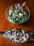 Herring & salad royalty free stock photos