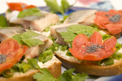 Herring Sandwich Stock Photo