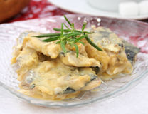 Herring with a sauce of mustard Stock Photos