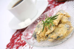 Herring with a sauce of mustard Stock Image