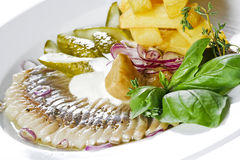 Herring starter Stock Photography