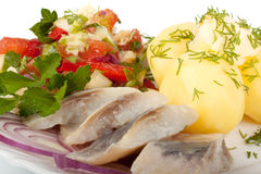 Herring with vegetables Stock Image