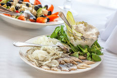 Herring with vegetables Royalty Free Stock Image