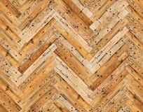 Herringbone ściany lub podłoga naturalna parkietowa bezszwowa tekstura Obrazy Royalty Free