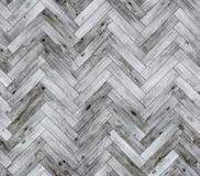 Herringbone bieląca naturalna parkietowa bezszwowa podłogowa tekstura Zdjęcie Stock