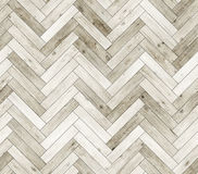 Herringbone bieląca naturalna parkietowa bezszwowa podłogowa tekstura Obraz Stock