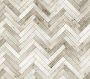 Herringbone bleached natural parquet seamless floor texture Stock Image