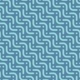 Herringbone blue seamless pattern in flat style. Stock Images