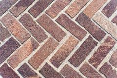 Herringbone Brick Pavers Stock Photos