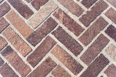 Herringbone Brick Pavers Stock Images