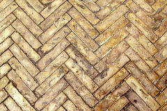 Herringbone bricks Stock Photos