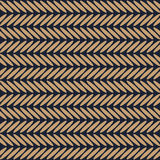 Herringbone brown and blue pattern vector Stock Image