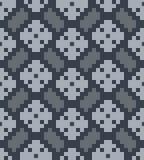 Herringbone do pixel do vetor e pa sem emenda dos rhombuses Fotos de Stock Royalty Free