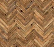 Herringbone natural parquet seamless floor texture. Background Stock Photography