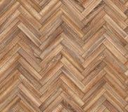 Herringbone naturalna parkietowa bezszwowa podłogowa tekstura Fotografia Stock