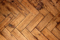 Herringbone oak wood floor Stock Photography