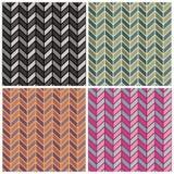 Herringbone Pattern. A seamless herringbone pattern in four colorways. Repeat size is 6 Stock Photo