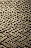 Herringbone pattern of block pavement. Stock Photo